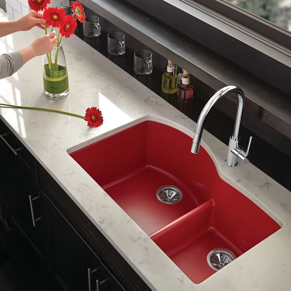 Tivoli Bowl for a Contemporary Spaces with a Contemporary and Elkay Sinks and Faucets by Elkay Sinks and Faucets