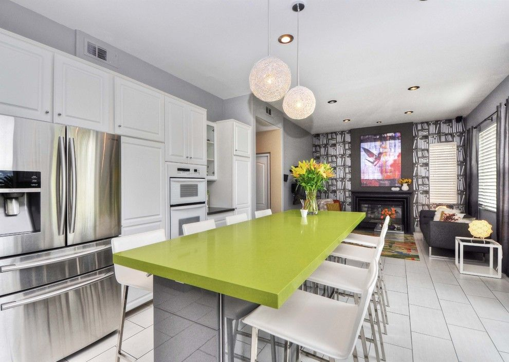 Tivoli Bowl for a Modern Kitchen with a Backsplash Glass Tile and Tivoli by M.a.p. Interiors Inc. / Sylvia Beez
