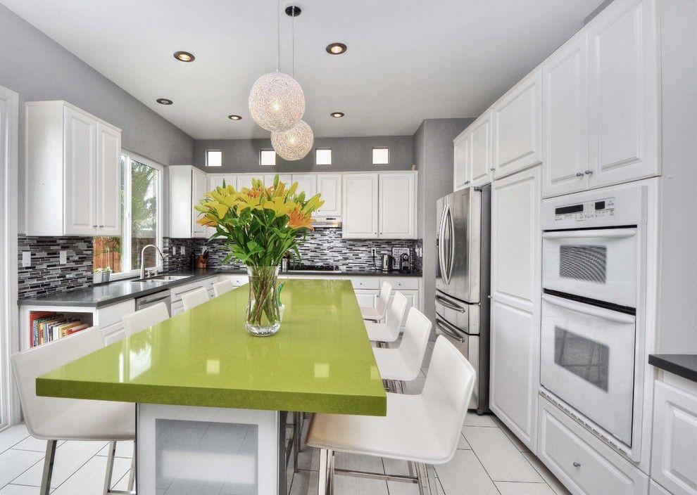 Tivoli Bowl for a Modern Kitchen with a Kitchen Backsplash and Tivoli by M.a.p. Interiors Inc. / Sylvia Beez