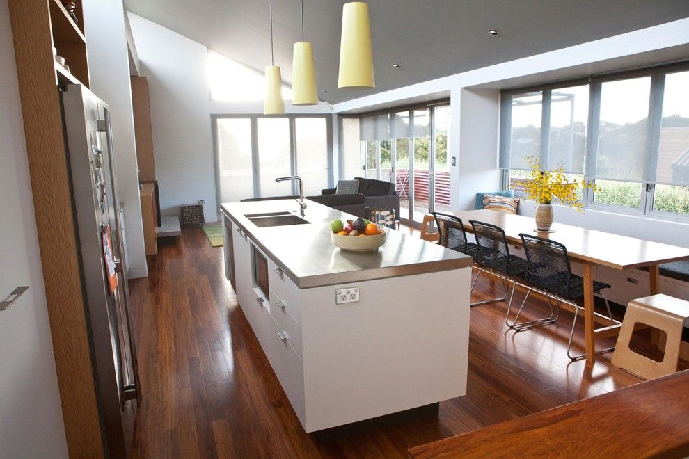 Tivoli Bowl for a Modern Kitchen with a Stainless Steel Sink and Livingstone St House Refurbishment by Caaht Studio Architects