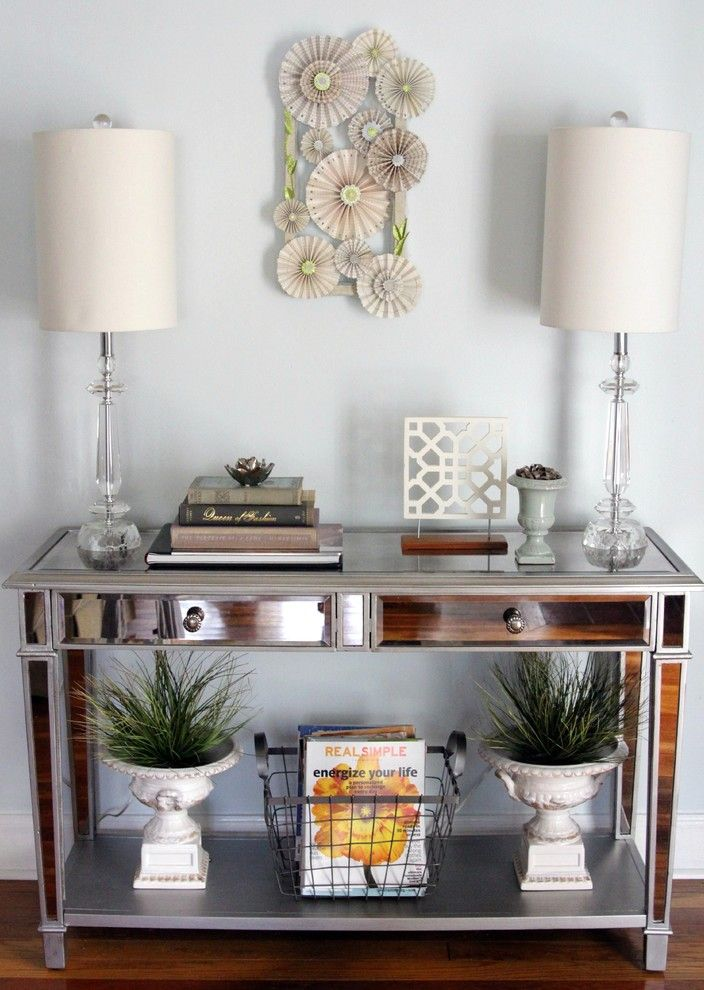 Tj Maxx Milwaukee for a Eclectic Entry with a Pier 1 and Mirrored Console Table by the Decor Fix