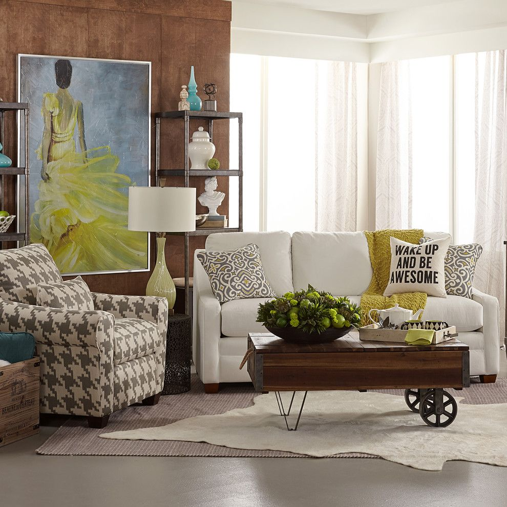 Tj Maxx Milwaukee for a Transitional Living Room with a Industrial Coffee Table and La Z Boy by La Z Boy