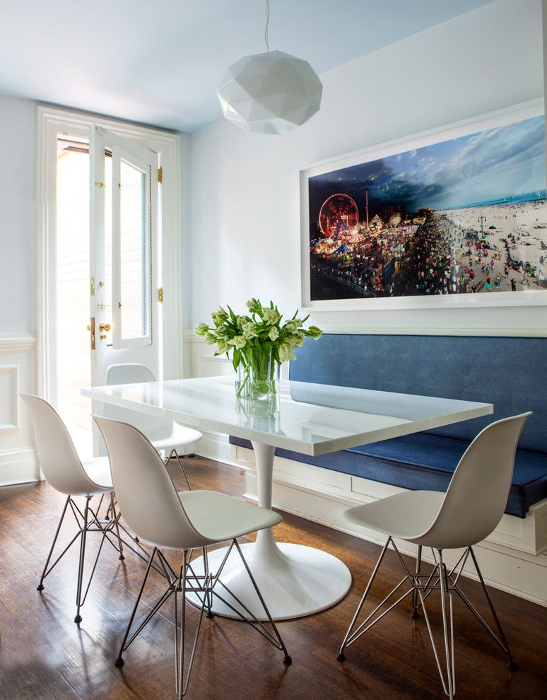 Tmart Furniture for a Contemporary Dining Room with a White Frame and New York Upper East Side Townhouse by Ana Woodwork Studio Llc
