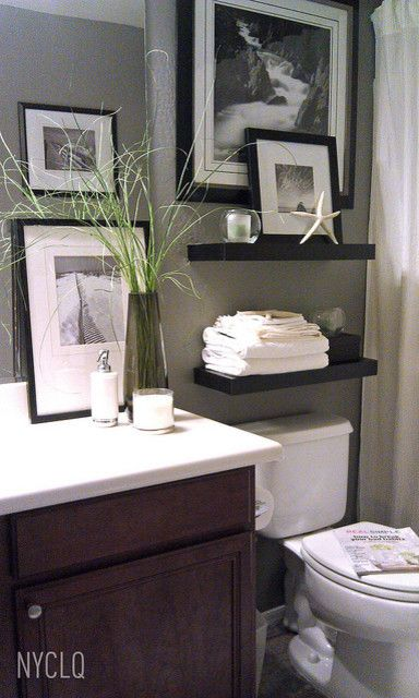 Toliet for a Modern Bathroom with a Budget and Rental Restyle: Small Bath Makeover by Focal Point Styling