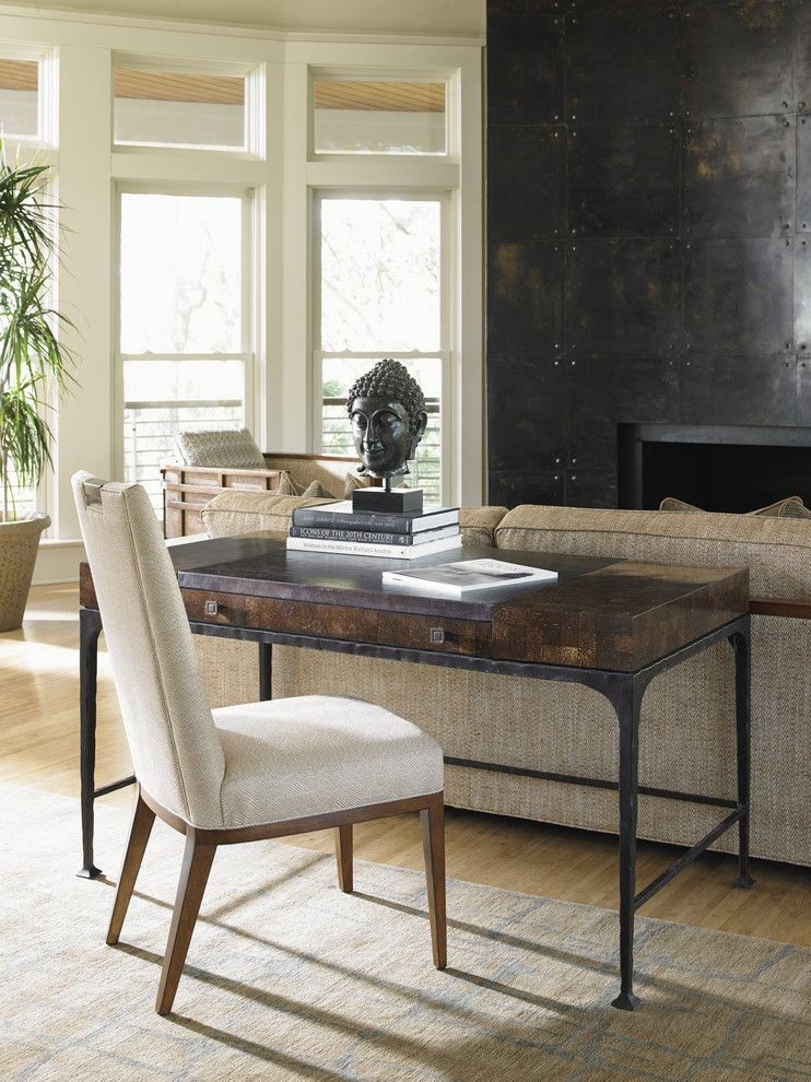 Tommy Bahama Newport Beach for a Contemporary Home Office with a Contemporary Writing Desk and Island Fusion Writing Desk by Tommy Bahama Home Store - Fashion Island