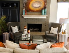 Tommy Bahama Newport Beach for a Eclectic Family Room with a Glass Art and Olivia's Family Room by Kevin Twitty Interiors