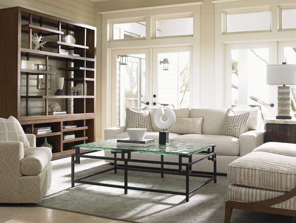Tommy Bahama Nyc for a Contemporary Living Room with a Contemporary Design and Island Fusion Light and Airy Living Room by Tommy Bahama Home Store   Fashion Island