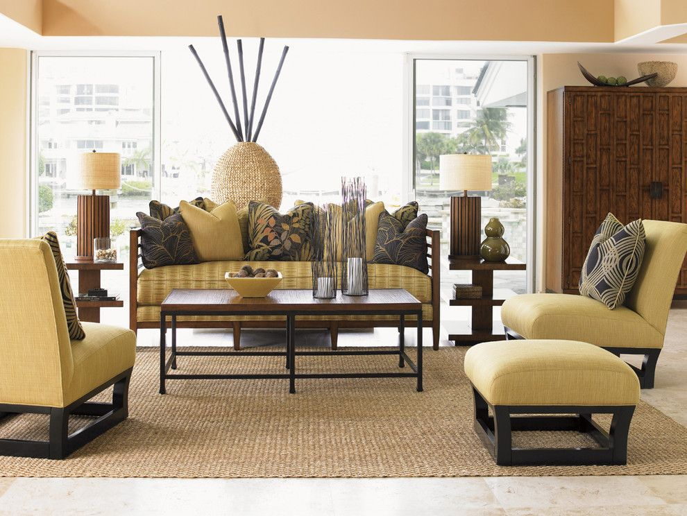 Tommy Bahamas Palm Desert for a Beach Style Living Room with a Beach Living Room and Ocean Club Pan Asian Living Room by Tommy Bahama Home Store   Fashion Island