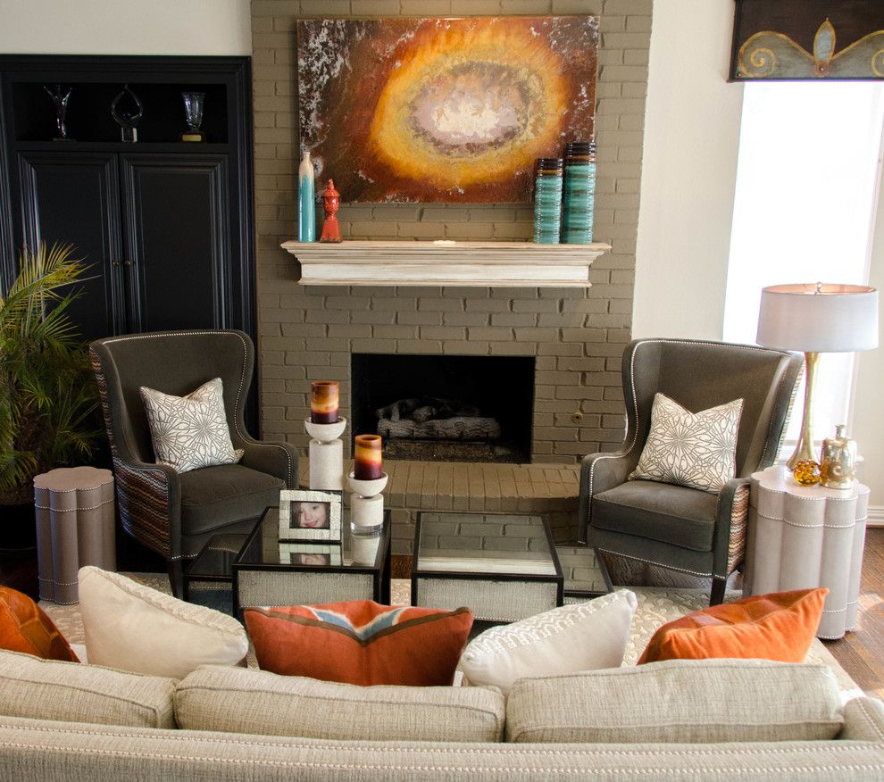 Tommy Bahamas Palm Desert for a Eclectic Family Room with a Fun and Olivia's Family Room by Kevin Twitty Interiors