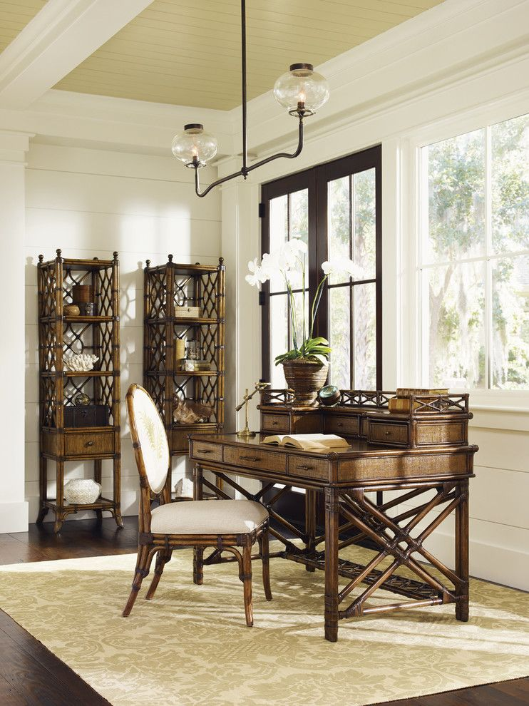 Tommy Bahamas Palm Desert for a Tropical Home Office with a Tropical Home Office and Bali Hai Home Office by Tommy Bahama Home Store   Fashion Island