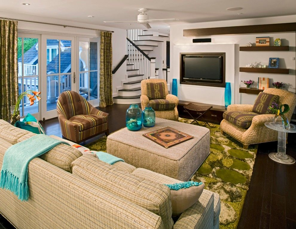 Tony Brown Chevrolet for a Contemporary Family Room with a Seagrass and Beach House Ii by Bruce Palmer Coastal Design