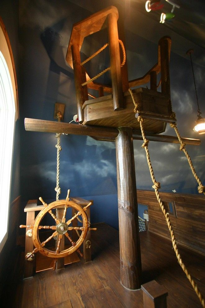 Tony Brown Chevrolet for a Eclectic Kids with a Eclectic and Pirate Ship Room & Other Fun Things by Kuhl Design Build Llc