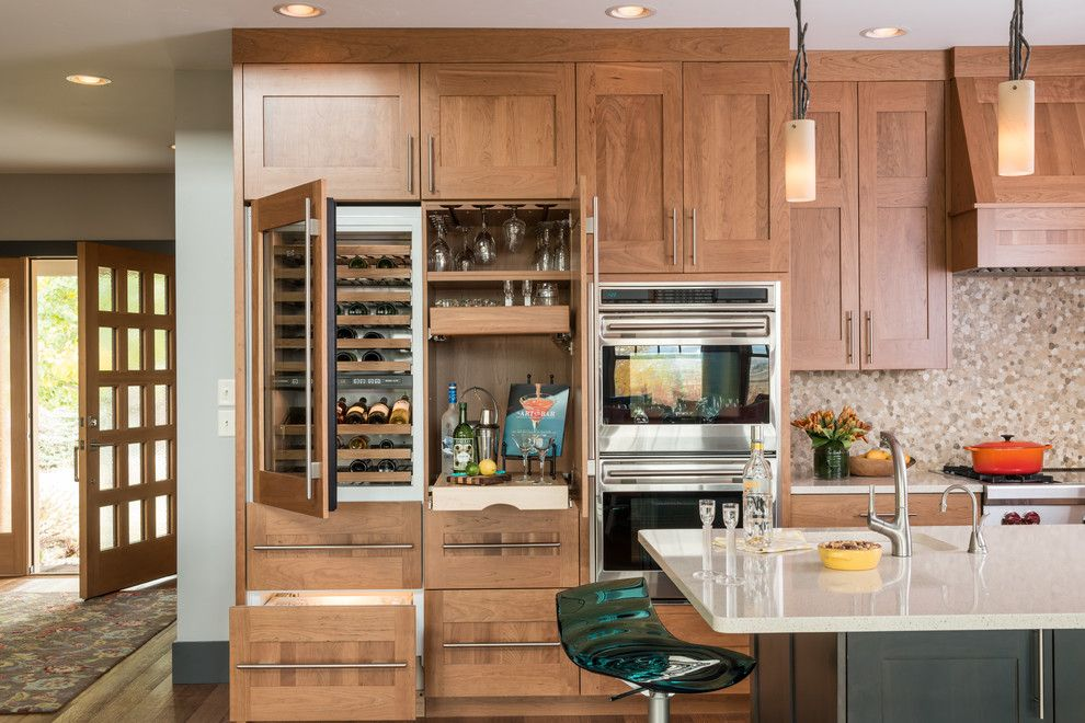 Tony Brown Chevrolet for a Transitional Kitchen with a Double Oven and Modern Norwegian Kitchen by Wagner Cabinetry and Design