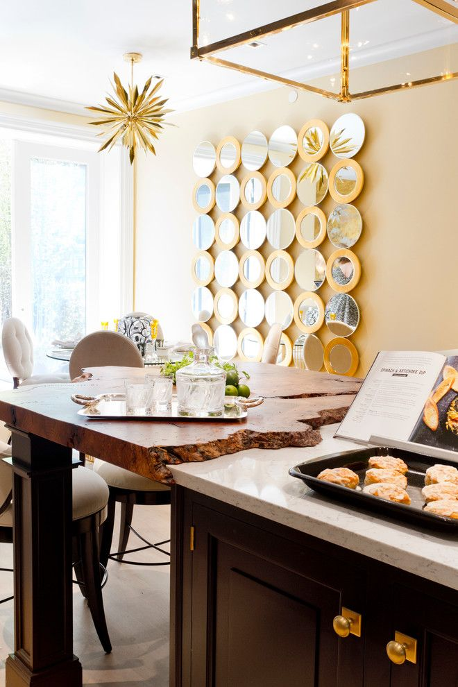 Tony Duquette for a Contemporary Kitchen with a Kips Bay and Kips Bay Showhouse 2015 by Rikki Snyder