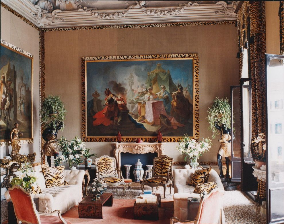 Tony Duquette for a Eclectic Living Room with a Eclectic and Palazzo Brandolini by Hutton Wilkinson   Tony Duquette Inc.