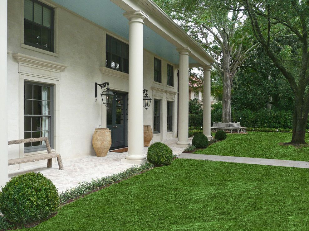 Torchere for a Traditional Landscape with a Finials and Mockingbird and Del Monte by Baldridge Landscape