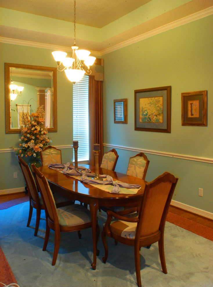 Torchere for a Transitional Dining Room with a Table and Ritten House Park by David Pope