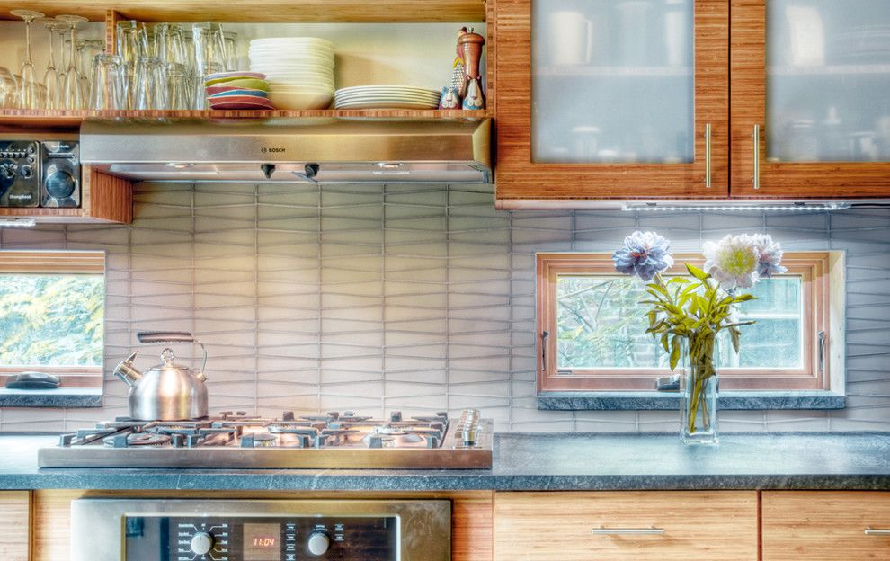 Torrey Hills Apartments for a Contemporary Kitchen with a Wood Cabinets and Chestnut Hill Kitchen by Buckminster Green Llc