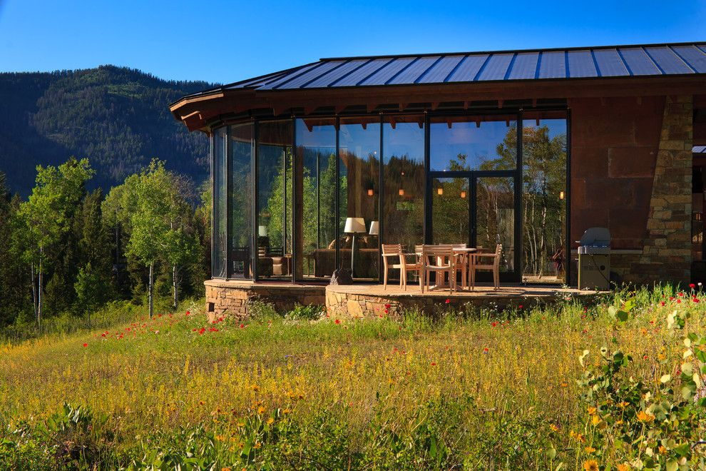 Torrey Hills Apartments for a Rustic Exterior with a Meadow and Pocket Ranch by Teton Heritage Builders