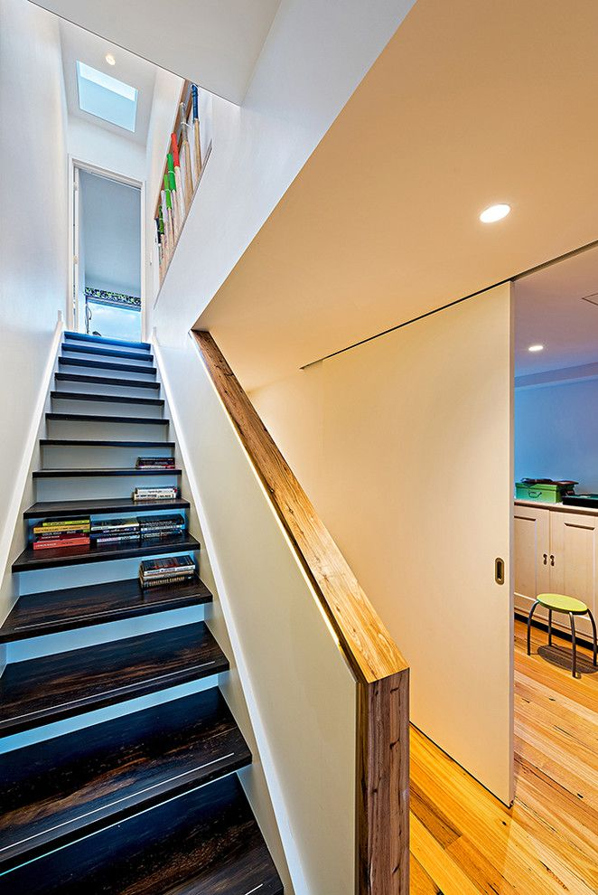 Towne Storage for a Contemporary Staircase with a Skylights and Carlton Renovation by Ed Ewers Architecture