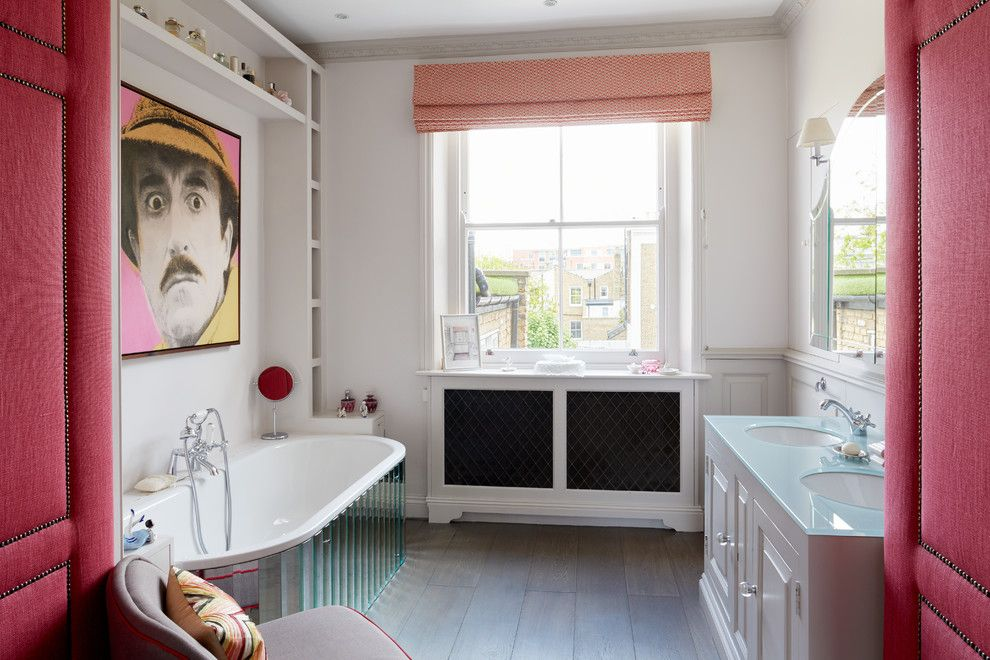 Towne Storage for a Eclectic Bathroom with a Art and Chelsea Town House by NBB Design