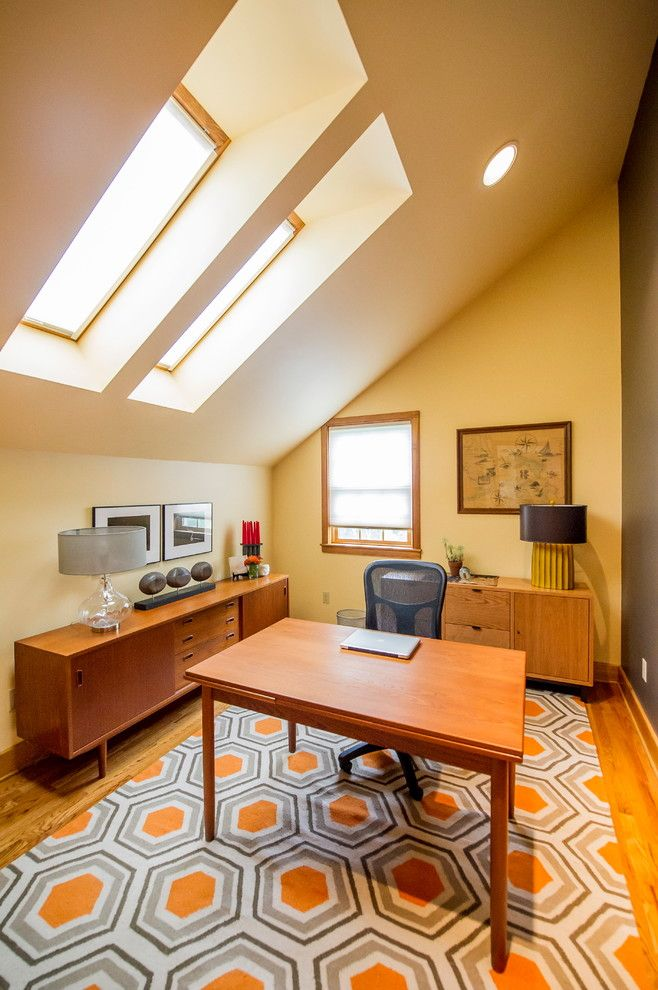 Towne Storage for a Modern Home Office with a Skylights and Chatham, Ny Home Office by Bespoke Decor