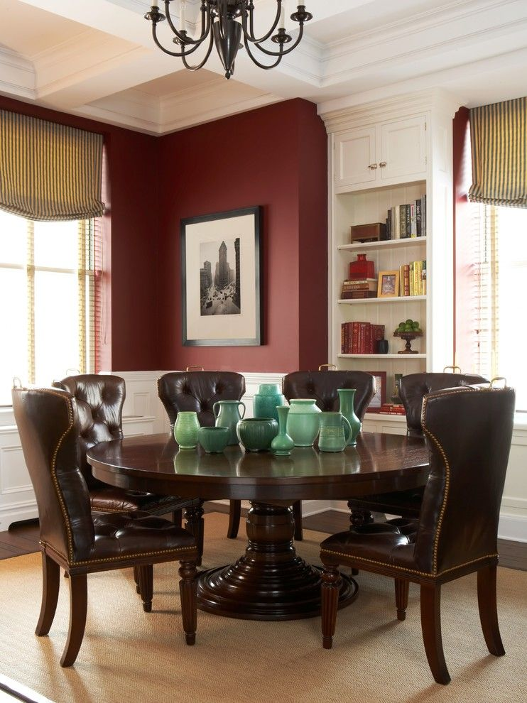 Towne Storage for a Traditional Dining Room with a White Bookcase and Gramercy Park, Nyc by Scott Sanders Llc