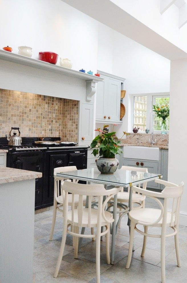 Towne Storage for a Traditional Kitchen with a Aga and Grade Ii Georgian Town House by Susie Hammond Design