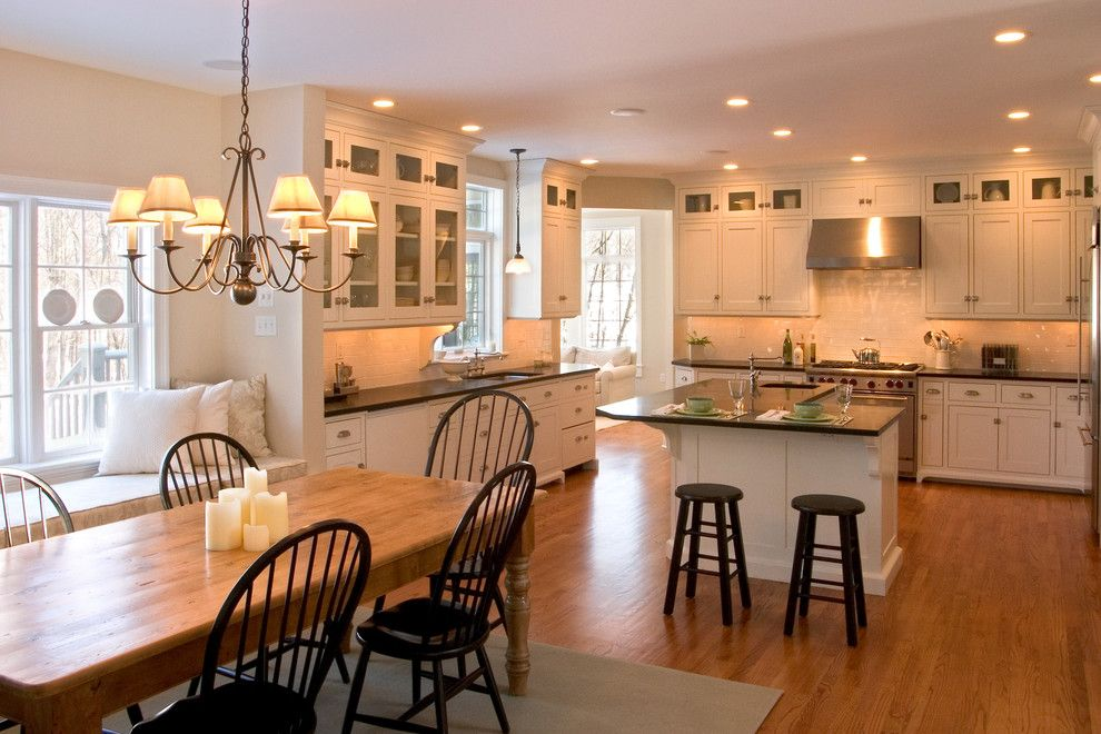Towne Storage for a Traditional Kitchen with a White Cabinet and Renovation Style by Teakwood Builders, Inc.