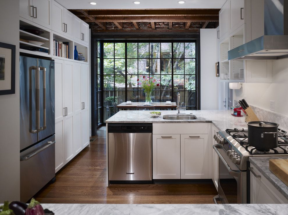 Tractor Pull Games for a Contemporary Kitchen with a Historic Preservation and West Philadelphia Kitchen by Hanson Fine Building