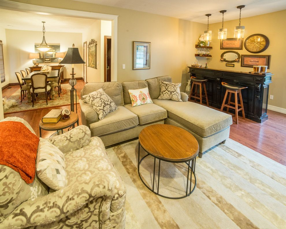 Traditional Housewarming Gifts for a Transitional Living Room with a Upholstered Dining Chairs and Traditional Spaces by Ellecor Design & Gifts by Haden Long