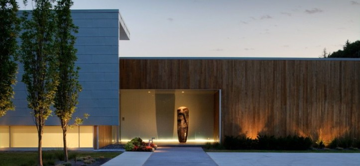Translucent Concrete for a Contemporary Exterior with a Landscape Lighting and Spring 2012 Installation - Contempory by McKay Landscape Lighting
