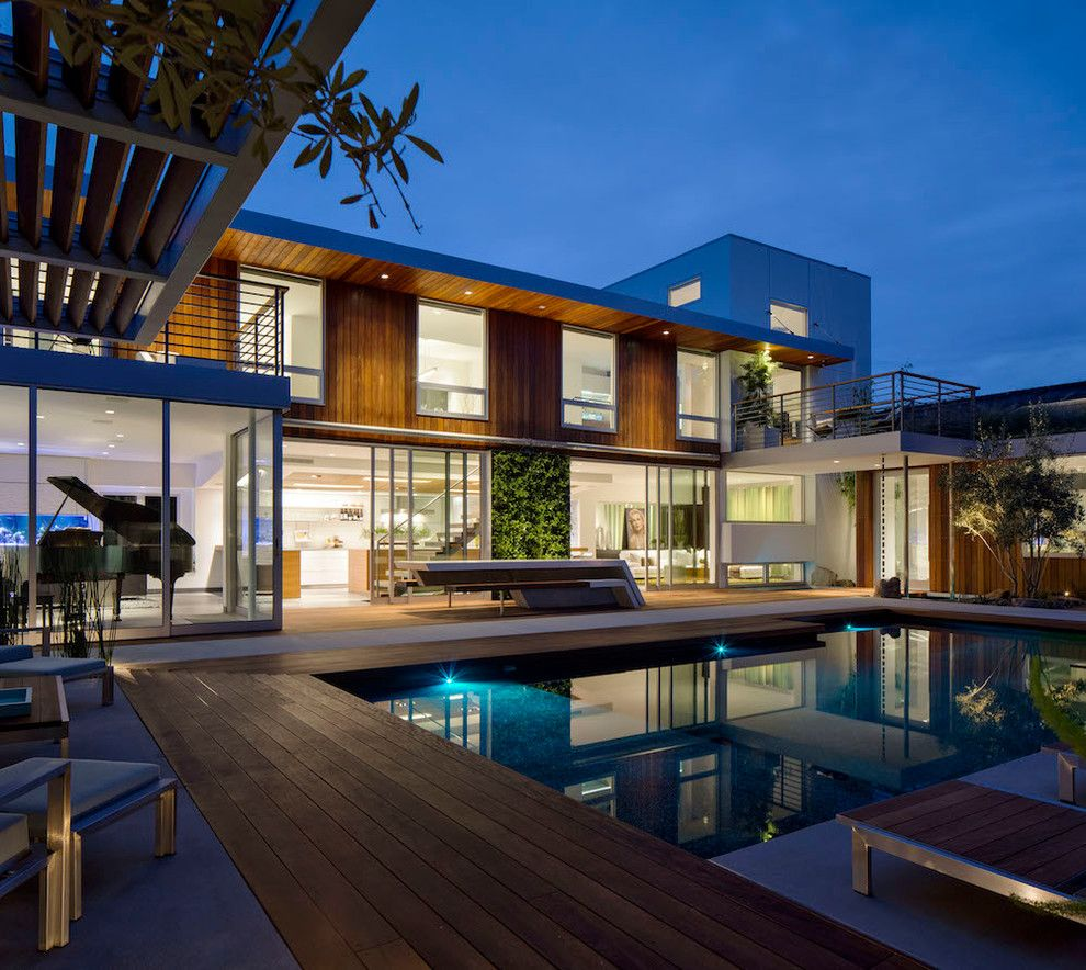 Translucent Concrete for a Contemporary Pool with a Living Wall and Hillcrest Hideaway by Jimmy Sullivan