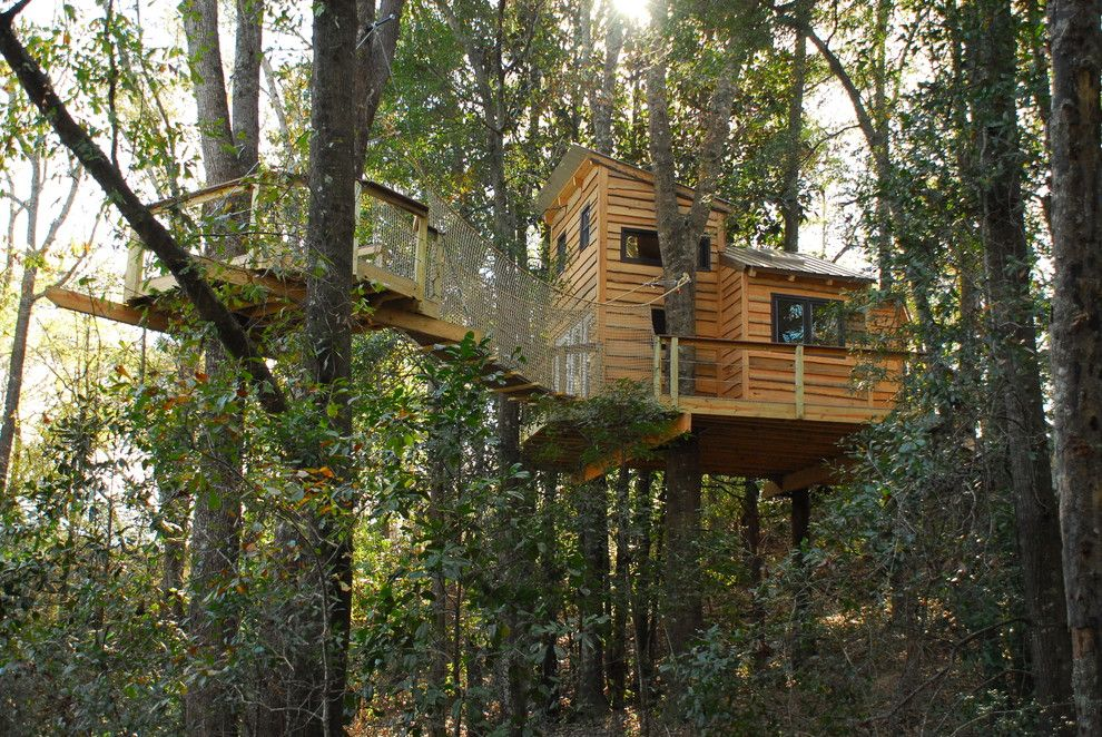 Treehouse Builders for a Craftsman Exterior with a Craftsman and Baker, Fl Treehouse by Tree Top Builders