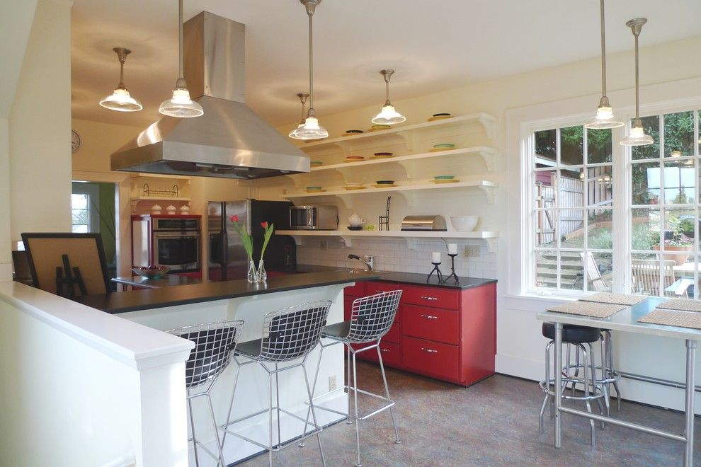 Trespa for a Eclectic Kitchen with a Marmoleum and Schoolhouse Kitchen by Live Work Play