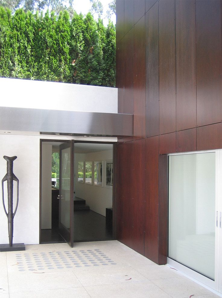 Trespa for a Modern Entry with a Statues and Twin Peaks Residence by Jensen Architects