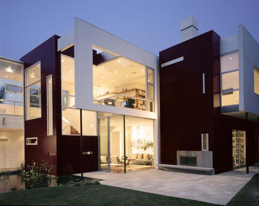 Trespa for a Modern Exterior with a Concrete and Kelly Residence by Abramson Teiger Architects