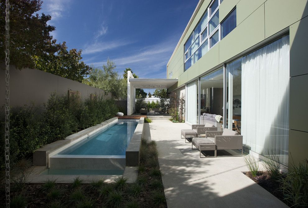 Trespa for a Modern Pool with a Modern and Goodman Residence by Abramson Teiger Architects