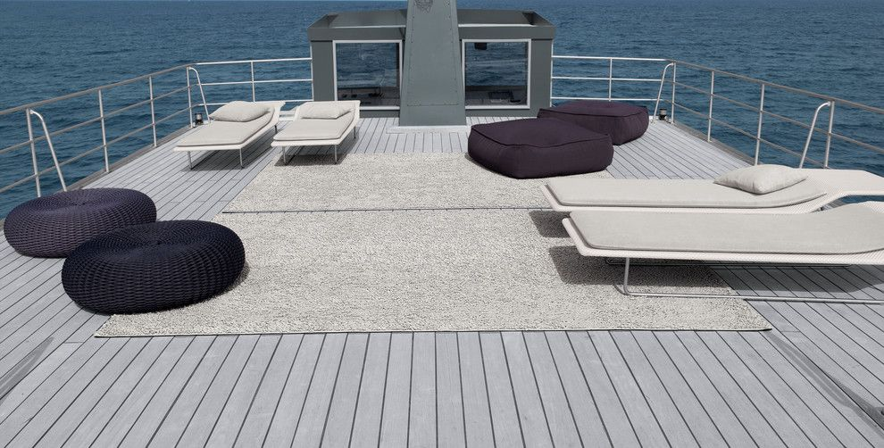 Trex Select for a Beach Style Deck with a Coastal and Paola Lenti   Showroom   Selection Collection by Escale Design
