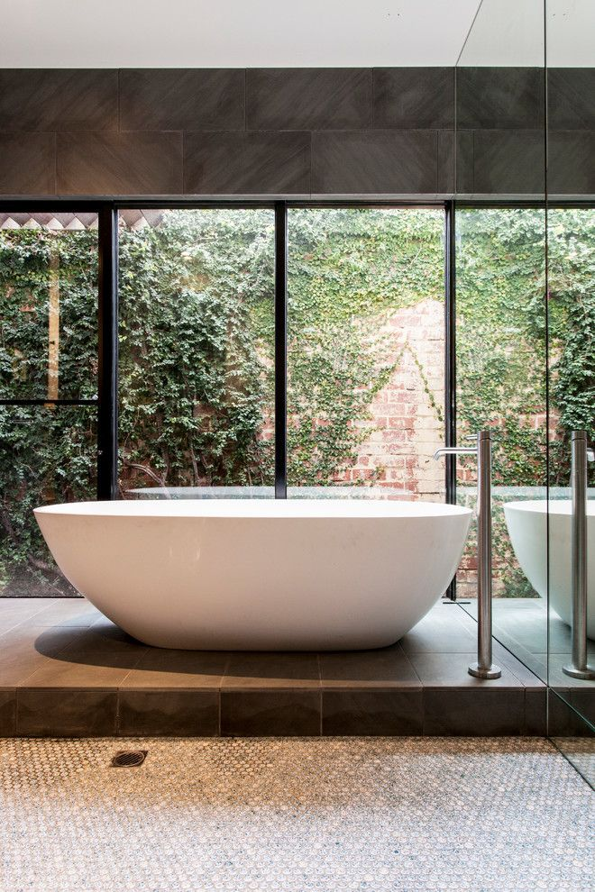 Tri Green Tractor for a Contemporary Bathroom with a Minimal and Baker Street by Designmas