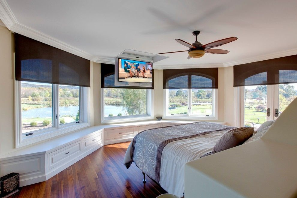 Triad Speakers for a  Spaces with a Motorized Window Treatments and Warwick, Ny by Innerspace Electronics Inc