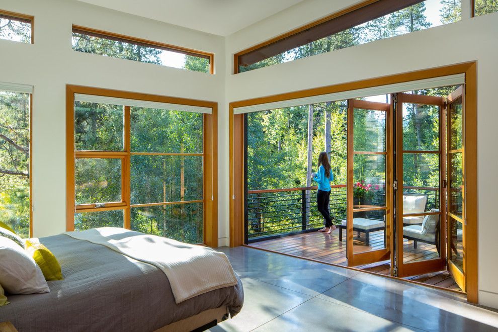 Trimountain for a Contemporary Bedroom with a Bedrooms with a View and Contemporary Residence by Blueline Architects P.c.