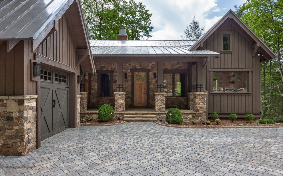 Trimountain for a Rustic Exterior with a Rustic and Wade Hampton Golf Club, the Low Road by Johnston Design Group