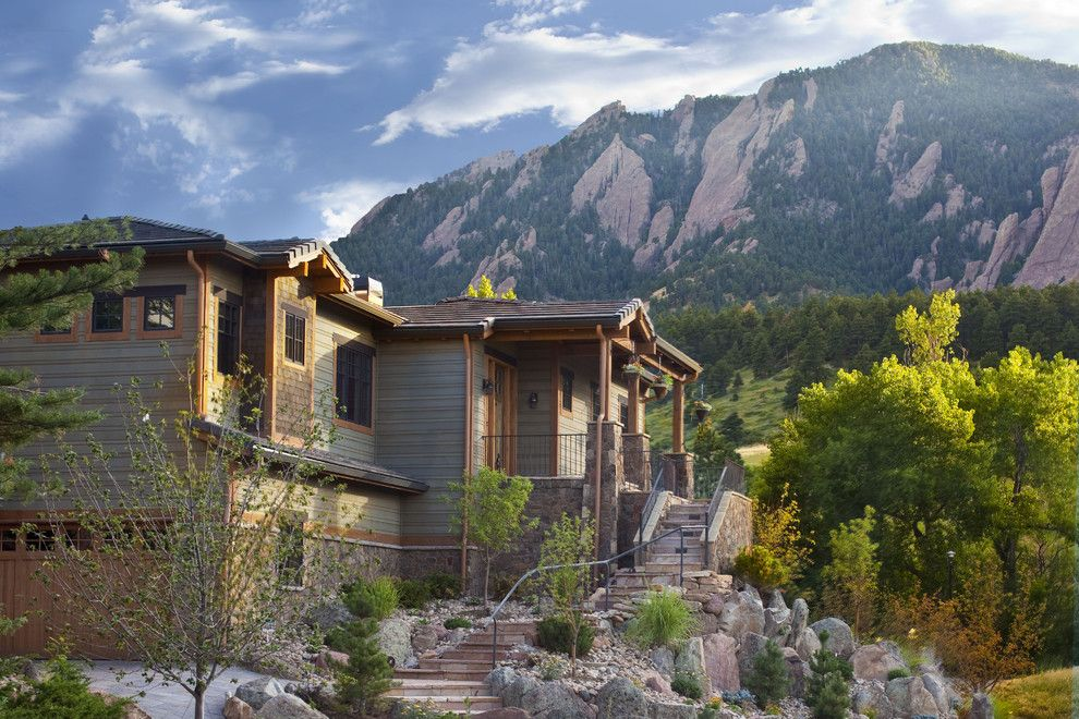 Trimountain for a Rustic Exterior with a Stone Exterior and Gamble Residence by Mq Architecture & Design, Llc