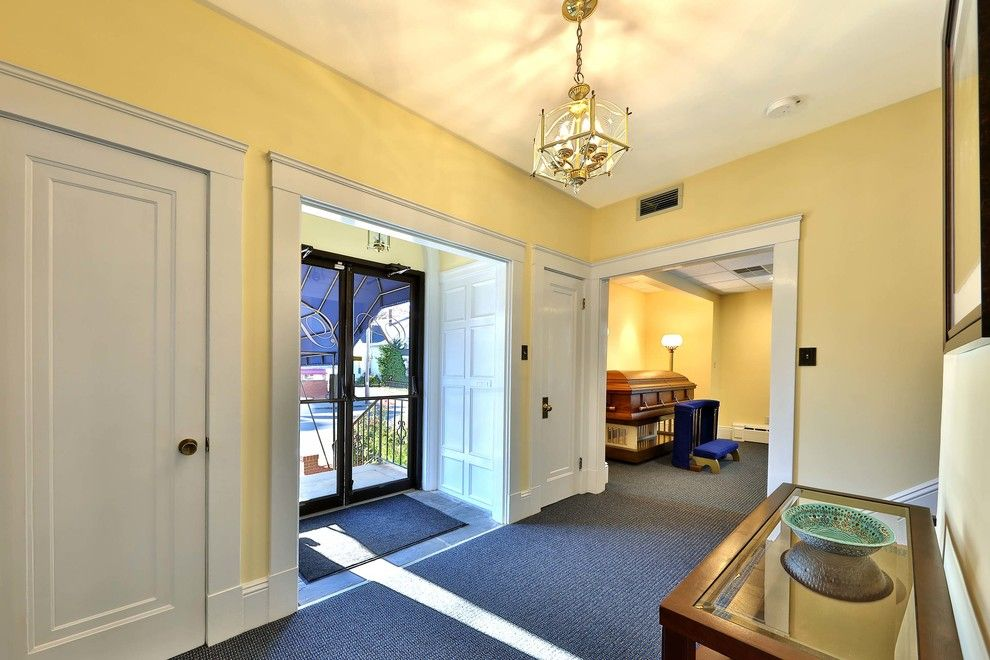 Triska Funeral Home for a Transitional Entry with a Funeral Home and Funeral Home Remodel   Lawrence, Ma by Debbe Daley Designs Llc
