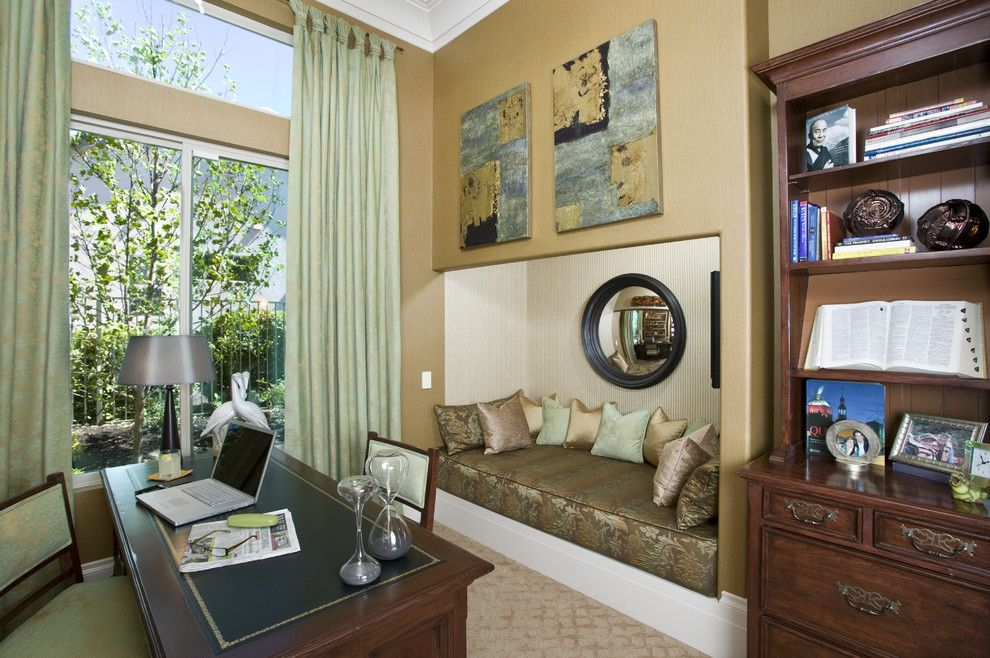 Triton Rental Homes for a Contemporary Home Office with a Wall Art and Hollywood Regency Home Office/study by Peg Berens Interior Design Llc