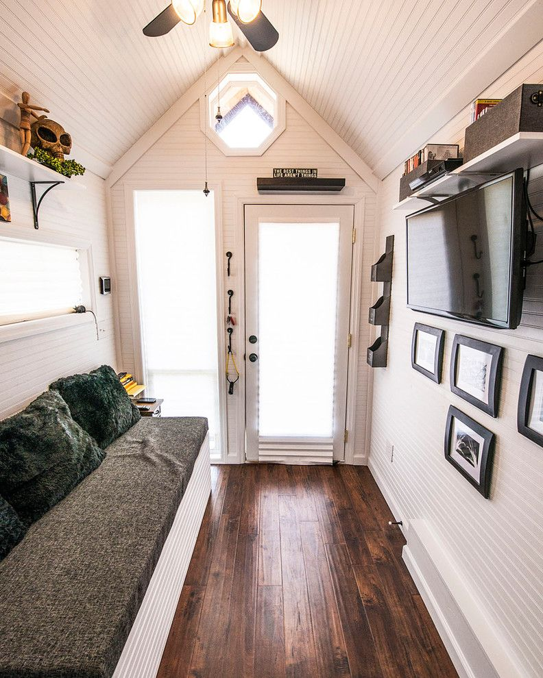Triton Rental Homes for a Eclectic Entry with a Tiny Home and Shoebox Tiny Home by Tennessee Tiny Homes