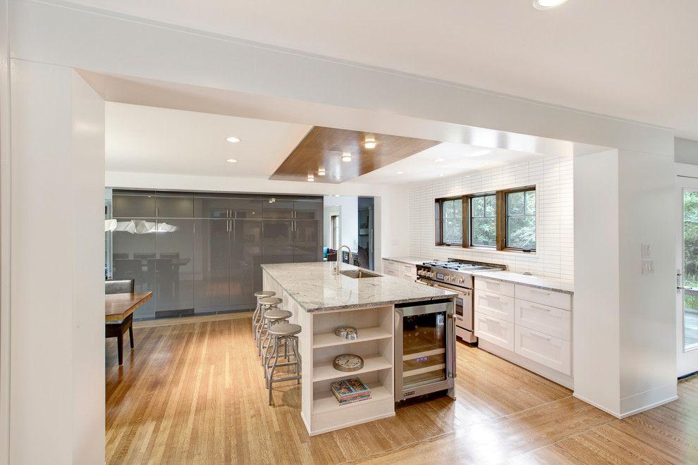 Tudor Oaks for a Scandinavian Kitchen with a Oak Flooring and Butler Tarkington Modern Tudor by Werk | Building Modern
