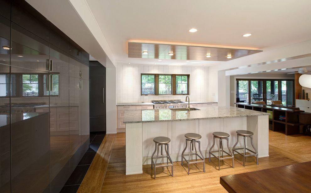 Tudor Oaks for a Scandinavian Kitchen with a White Cabinets and Butler Tarkington Modern Tudor by Werk | Building Modern