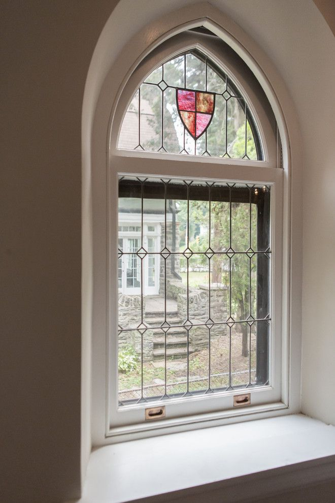 Tudor Oaks for a Traditional Entry with a Stained Glass and Complete Restoration of a 110 Year Old Tudor Style Home by Red Oak Builders, Llc